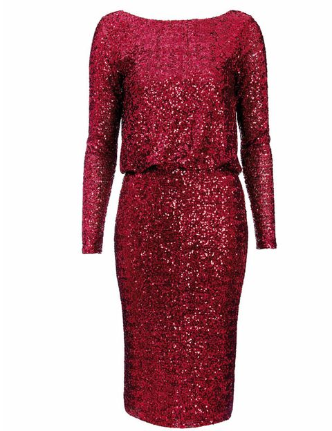 Sleeve, Red, Textile, Pattern, Style, Dress, Maroon, Carmine, Fashion, One-piece garment,