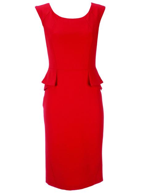 Red, Dress, One-piece garment, Pattern, Orange, Carmine, Maroon, Day dress, Coquelicot, Peach,