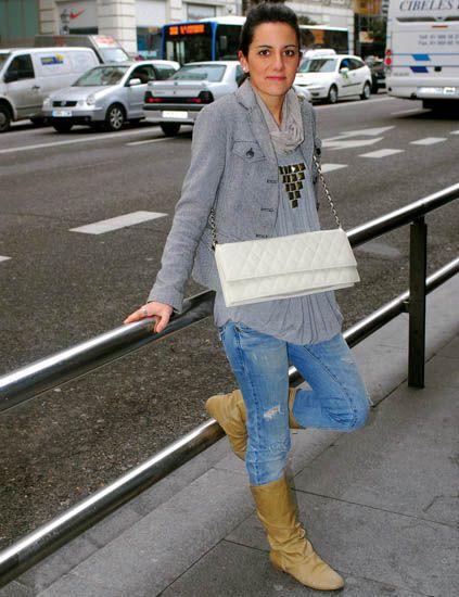 Land vehicle, Denim, Jeans, Automotive exterior, Street fashion, Boot, Automotive parking light, Riding boot, Truck, Sidewalk,