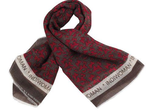 Textile, Pattern, White, Style, Carmine, Maroon, Stole, Fashion design, Woolen, Scarf,