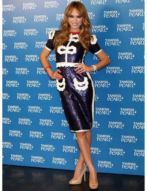 Dress, Shoulder, One-piece garment, Style, Waist, Cocktail dress, Day dress, Electric blue, Pattern, Fashion,