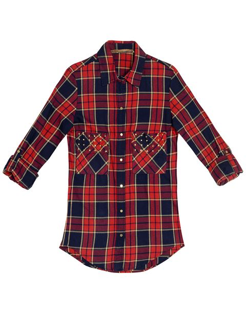 Clothing, Plaid, Blue, Product, Tartan, Collar, Pattern, Sleeve, Red, Textile,