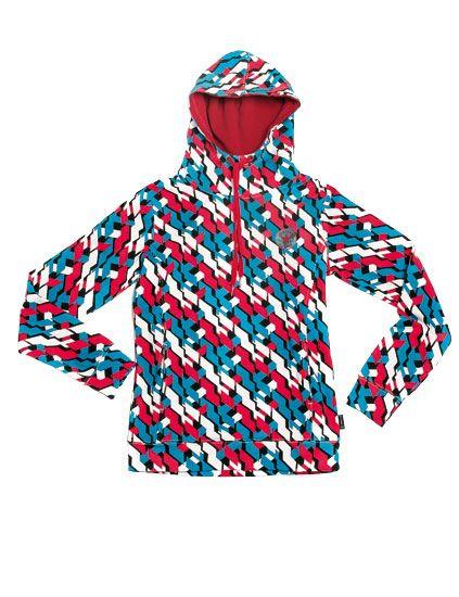 Blue, Collar, Sleeve, Textile, Pattern, Red, Electric blue, Aqua, Orange, Teal,