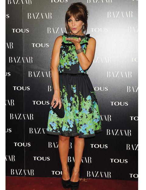 Clothing, Dress, Green, Shoulder, Style, Formal wear, One-piece garment, Pattern, Day dress, Waist,