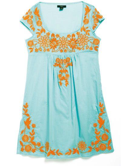 Blue, Yellow, Green, Dress, Orange, Textile, White, Aqua, Teal, Turquoise,