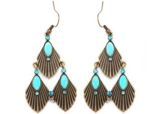 Earrings, Blue, Jewellery, Fashion accessory, Aqua, Teal, Turquoise, Natural material, Body jewelry, Fashion,