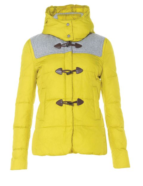 Yellow, Product, Sleeve, Textile, Personal protective equipment, Fashion, Electric blue, Jacket, Sweatshirt, Zipper,