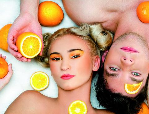 Lip, Yellow, Skin, Citrus, Orange, Fruit, Ingredient, Tangerine, Produce, Natural foods,