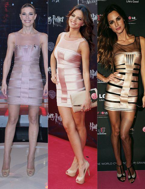 Clothing, Leg, Dress, Skin, Flooring, Shoulder, Joint, Red, Human leg, Waist,