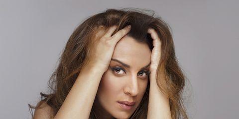 Lip, Brown, Hairstyle, Skin, Chin, Shoulder, Eyebrow, Eyelash, Joint, Elbow,