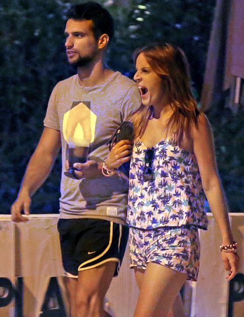 Face, Human body, Dress, Active shorts, Thigh, Day dress, One-piece garment, Bermuda shorts, Beard, Cocktail dress,