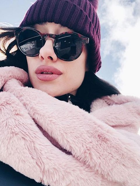 Eyewear, Glasses, Vision care, Lip, Skin, Winter, Sunglasses, Goggles, Textile, Outerwear,