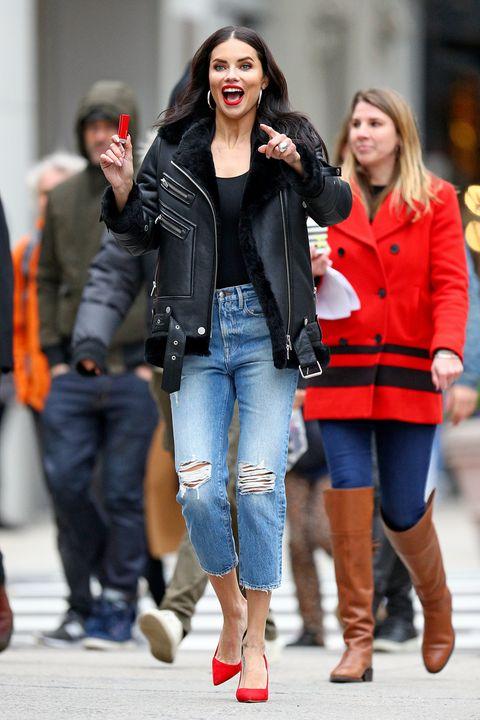 Clothing, Footwear, Leg, Trousers, Denim, Jeans, Coat, Textile, Outerwear, Jacket,