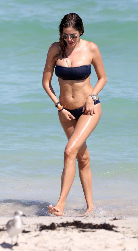 Bikini, Clothing, Swimwear, Undergarment, Leg, Beauty, Human leg, Stomach, Thigh, Vacation,
