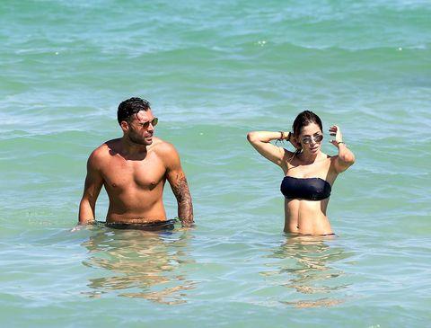 Vacation, Fun, Summer, Beach, Bikini, Water, Barechested, Sea, Swimwear, Bathing,