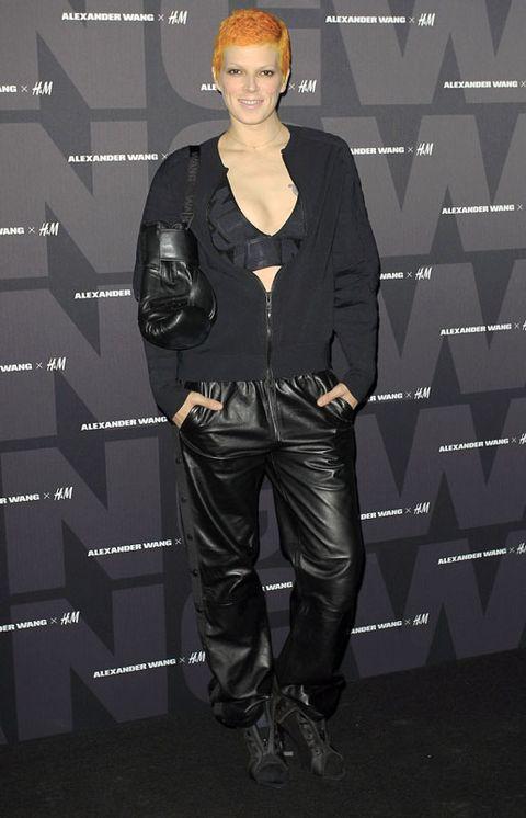 Sleeve, Style, Leather, Jacket, Fashion model, Street fashion, Blond, Animation, Fashion design, Pocket,