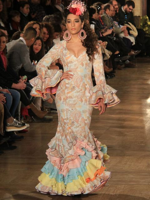 Human, Hairstyle, Fashion show, Style, Dress, Fashion model, Runway, Gown, Fashion, Youth,