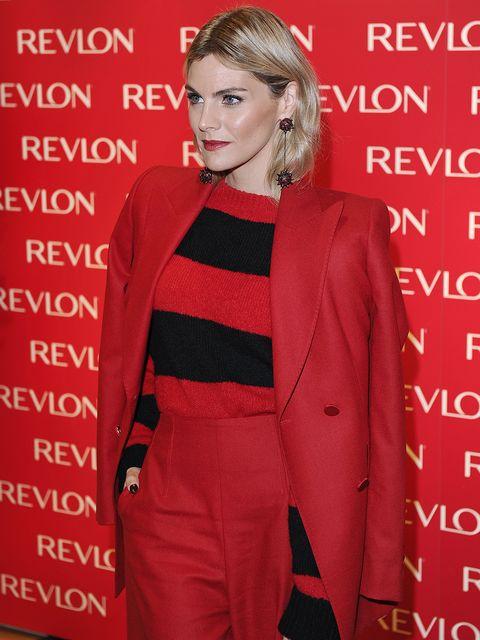 Clothing, Red, Outerwear, Suit, Fashion, Premiere, Carpet, Pantsuit, Formal wear, Event,