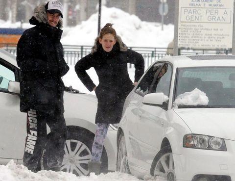 Tire, Winter, Wheel, Vehicle, Land vehicle, Automotive design, Automotive tire, Snow, Freezing, Car,