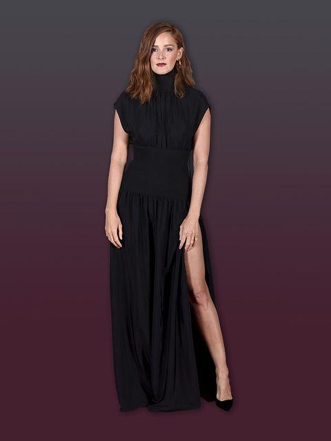 Clothing, Dress, Fashion model, Black, Day dress, Fashion, Gown, Neck, Formal wear, Shoulder,