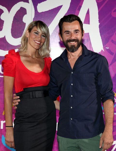 Smile, Shirt, Dress shirt, Dress, Purple, Magenta, Waist, Beard, Belt, Moustache,