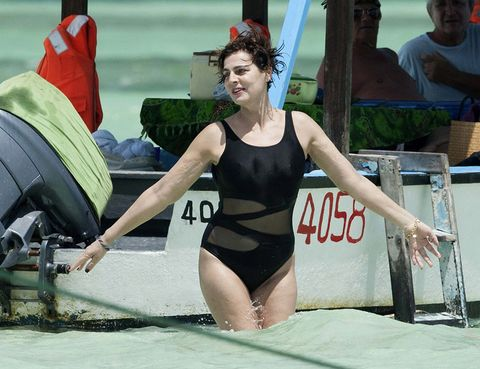 Sportswear, Swimwear, Summer, Leotard, One-piece swimsuit, Chest, Maillot, Thigh, Swim cap, Tankini,