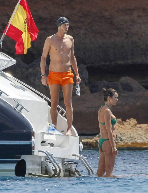 Leg, Flag, Fun, Human body, Human leg, Swimwear, Recreation, Summer, Chest, Undergarment,