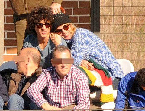 Eyewear, Vision care, Hat, Goggles, Sitting, Sunglasses, Headgear, Sharing, Sun hat, Fedora,