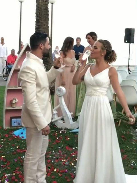 Gown, Dress, Bride, Wedding dress, Bridal clothing, Ceremony, Event, Wedding, Wedding ceremony supply, Formal wear,