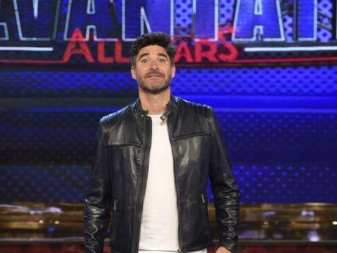 Jacket, Textile, Outerwear, Leather jacket, Leather, Electric blue, Denim, Facial hair, Zipper, Beard,