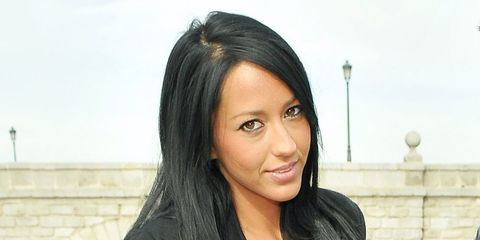 Hair, Face, Black hair, Hairstyle, Eyebrow, Lip, Beauty, Long hair, Forehead, Skin,