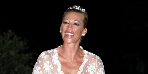 Headpiece, Dress, Hair accessory, Fashion, Wedding dress, Beauty, Gown, Tiara, Bridal accessory, Bridal clothing,