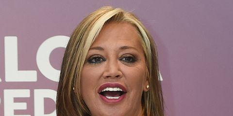 Hair, Blond, Hairstyle, Beauty, Mouth, Layered hair, Long hair, Smile, Brown hair, Eyelash,