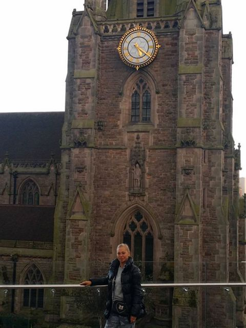 Clock tower, Jacket, Medieval architecture, Clock, Place of worship, Arch, Gothic architecture, Classical architecture, Cathedral, Turret,