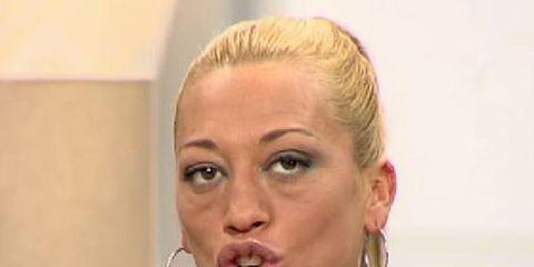 Ear, Nose, Lip, Cheek, Hairstyle, Skin, Chin, Earrings, Forehead, Eyebrow,