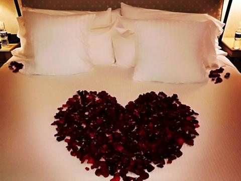 Red, Sky, Love, Room, Dress, Plant, Furniture, Interior design, Table, Flower,