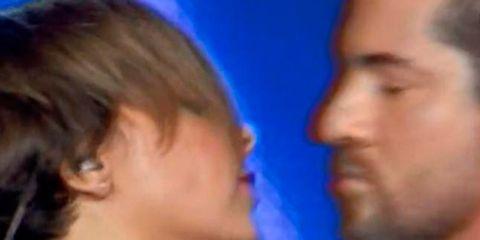 Nose, Blue, Lip, Cheek, Hairstyle, Skin, Earrings, Fun, Chin, Forehead,