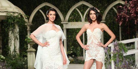 Clothing, Plant, Shoulder, Dress, Textile, Waist, Formal wear, Bridal clothing, Beauty, Garden,