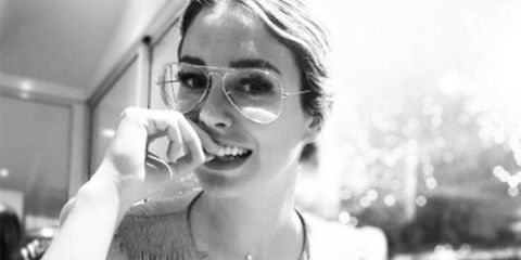 Black-and-white, Photography, Smile, Stock photography, Monochrome photography, Vegetarian food, Glasses, Monochrome, Style,