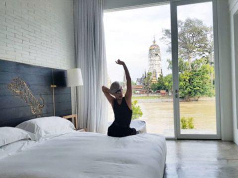 Bed, Room, Furniture, Bedroom, Mattress, Floor, Interior design, Window, Bed sheet, Leg,