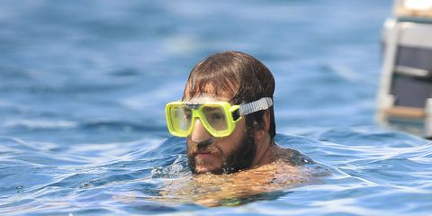 Eyewear, Goggles, Water, Personal protective equipment, Fluid, Diving equipment, Muscle, Diving mask, Swimming pool, Swimming,