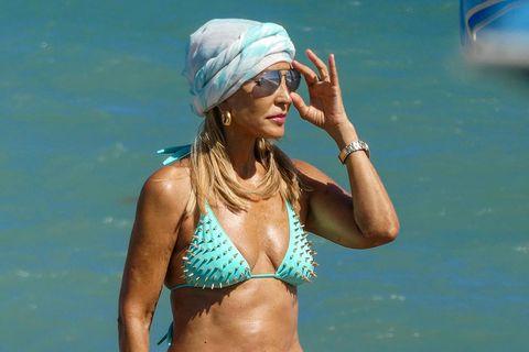 Bikini, Swimwear, Swimsuit top, Fun, Summer, Vacation, Headgear, Undergarment, Chest, Abdomen,