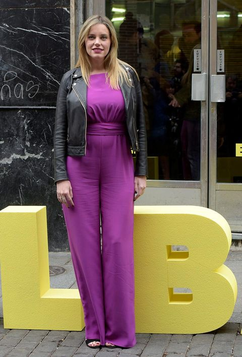 Clothing, Purple, Yellow, Pink, Fashion, Violet, Magenta, Pantsuit, Street fashion, Dress,
