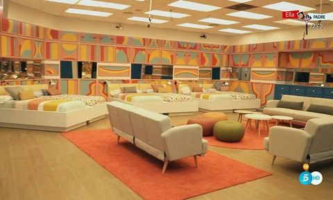 Interior design, Room, Furniture, Building, Orange, Living room, Floor, Wall, Flooring, Design,