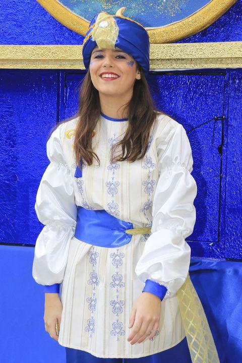Blue, Sleeve, Electric blue, Majorelle blue, Headgear, Fashion accessory, Costume accessory, Fashion, Cobalt blue, Costume,