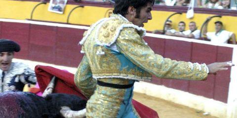 Matador, Entertainment, Sport venue, Performing arts, Bullring, Bull, Animal sports, Tradition, Bullfighting, Performance,