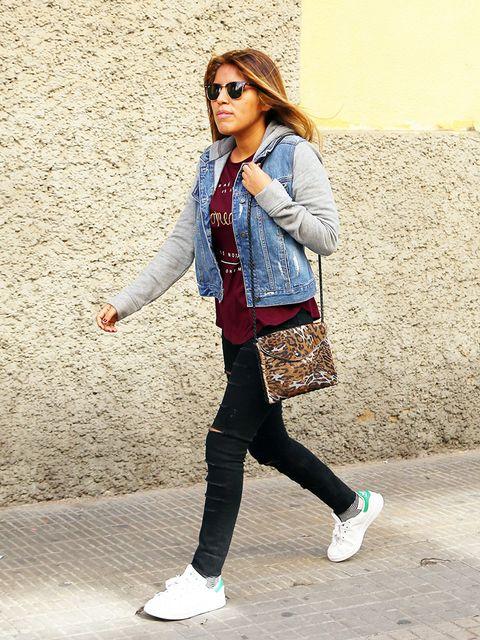 Clothing, Eyewear, Sleeve, Trousers, Shoe, Textile, Sunglasses, Outerwear, Bag, White,