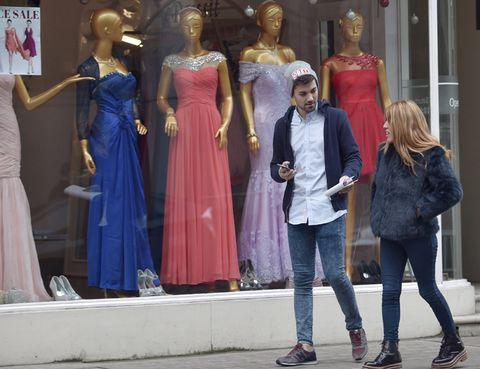 Clothing, Trousers, Dress, Textile, Outerwear, Jeans, Style, Street fashion, Denim, One-piece garment,