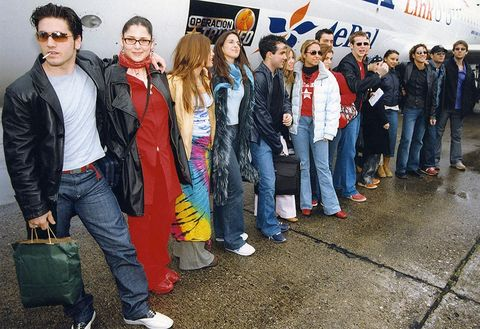 People, Social group, Youth, Event, Jeans, Crowd, Denim, Team, Jacket,