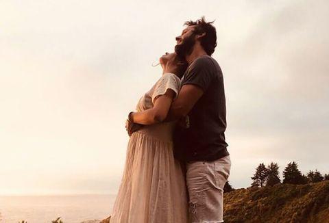 Photograph, Happy, People in nature, Interaction, Romance, Honeymoon, Love, Gesture, Hug, Gown,